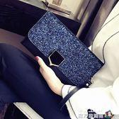 2018新款宴會手抓包名媛信封手包韓版個性時尚百搭氣質手拿包女潮 魔方數碼館