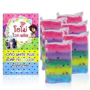 【泰國Omo White Plus】繽紛彩虹皂(100gx12入)