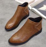 ZUCAS~(NN-5100)馬丁靴女英倫風百搭短靴平底裸靴