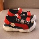涼鞋 2021夏男童軟底沙灘鞋包頭護腳防踢軟底防滑學步鞋兒童運動涼鞋