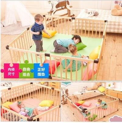 出口澳洲 嬰兒遊戲圍欄 寶寶爬行學步護欄 實木室內圍欄客服