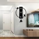 鐘表掛鐘客廳現代簡約大氣個性創意時尚靜音裝飾搖擺家用時鐘掛表 qf28925【MG大尺碼】