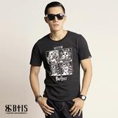 【BTIS】中性款圓領T-shirt / 黑色