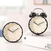 時尚簡約鬧鐘創意床頭靜音時鐘 迷你可愛學生小鬧鐘個性兒童臺鐘