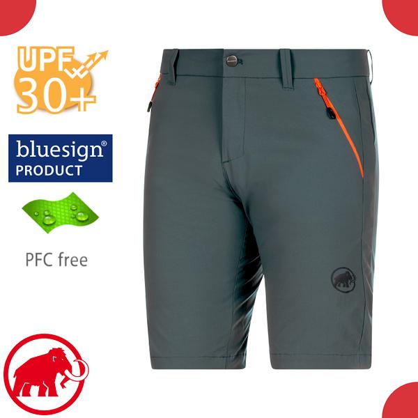 【MAMMUT 長毛象 男 Hiking Shorts 短褲《風暴灰》】1023-00120/休閒運動褲/彈性透氣/輕量機能