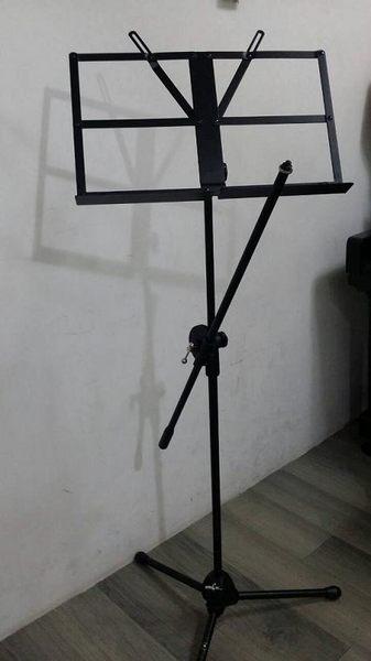 【金聲樂器廣場】全新 折疊式 大 譜架 + 麥克風 斜架 街頭藝人適用 附攜行袋