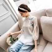 【618】好康鉅惠中國風女裝民國風盤扣女夏旗袍茶服中式唐裝