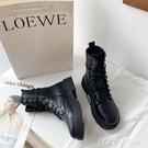 馬丁靴瘦瘦鞋潮馬丁靴女夏季新款透氣春秋百搭薄款英倫風短靴子 快速出貨