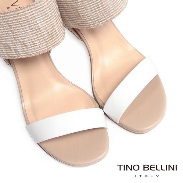 Tino Bellini 巴西進口異元素細緻高跟涼鞋 _ 白 B63009C 歐洲進口款