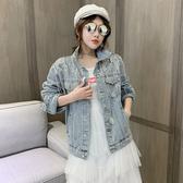 秋季韓版時尚外穿百搭寬鬆牛仔外套女潮1986#F1139紅粉佳人