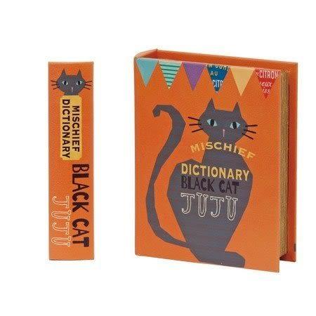 《齊洛瓦鄉村風雜貨》日本zakka雜貨 黑貓書本造型 收納盒 收納箱