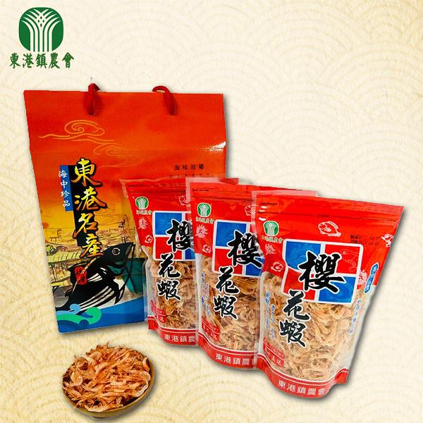 東港鎮農會-料理櫻花蝦禮盒100g(3包入/盒)