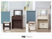 【MK億騰傢俱】ES232-1G日式和風雪杉白/胡桃色2尺化妝台(含椅)