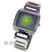 ELLE STUDIO 心型秒針手錶-灰綠