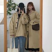 週年特惠 原宿風外套女韓版chic早秋上衣bf寬鬆中長款工裝風衣 隨想曲