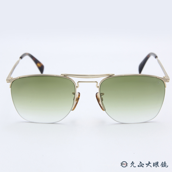 DB EYEWEAR 貝克漢設計品牌 DB 1001S (金) 雙槓 太陽眼鏡 久必大眼鏡