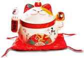 【金石工坊】千萬兩聚寶盆貓/糖果罐(高15CM)招財貓 喬遷 開店送禮 開業禮品 陶瓷開運擺飾