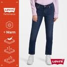 Levis 男友褲 中腰寬鬆版牛仔褲 / WARM JEANS 機能保暖內刷毛 / 微刷破補丁 / 彈性布料