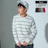 毛衣 韓系舒適柔綿細條紋針織毛衣【H613】舒適 保暖 親膚