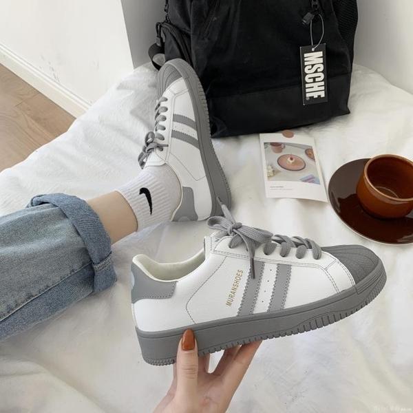 平底鞋 2020新款秋冬小白鞋女ins潮運動帆布板鞋網紅百搭加絨學生 開春特惠