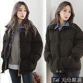 【天母嚴選】丹寧牛仔襯衫拼接假兩件鋪棉夾克外套(共二色)
