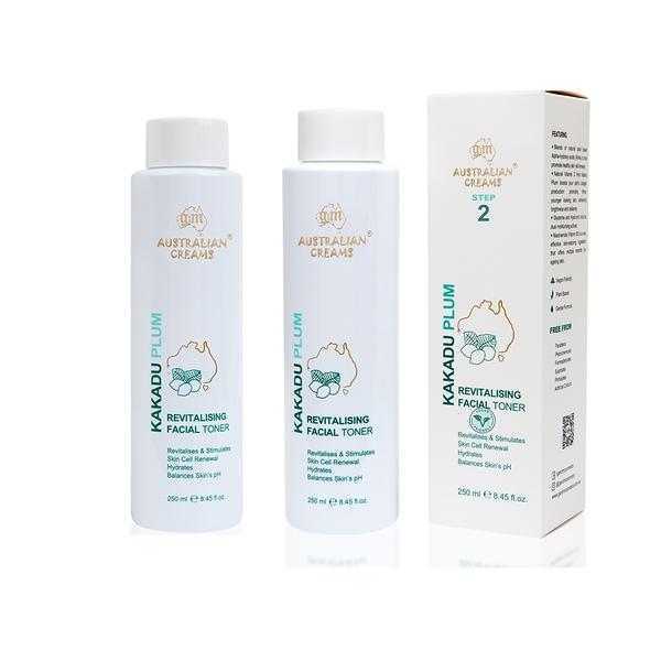 【澳洲G&M-KAKADU PLUM】專業級系列-卡卡度玻尿酸保濕化妝水-2入組 250ml/瓶