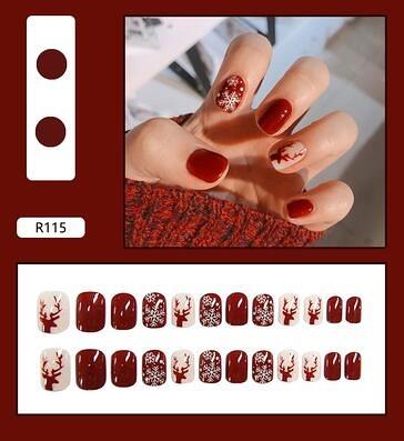 美甲指甲貼片成品可拆卸穿戴美甲反復女可摘可戴中長款假指甲