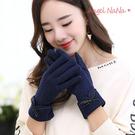 \韓版可愛優雅觸控手套。AngelNaNa  蝴蝶結 女保暖 毛呢 手套(SHA0006)