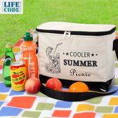 LIFECODE COOLER 飲料保冰袋(10L)-黑色圖紋