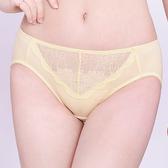 思薇爾-沁甜花漾系列M-XXL蕾絲中腰三角內褲(蛋蜜色)