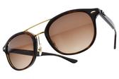 RayBan 太陽眼鏡 RB2183 122513 (琥珀棕金-漸層棕鏡片) 雙槓飛行款 墨鏡 # 金橘眼鏡