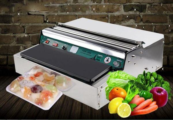 保鮮膜包裝機全自動切割封膜口機蔬菜超市水果打包機保鮮膜機 IGO