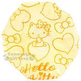 〔小禮堂〕Hello Kitty 浴帽《黃.坐姿.愛心.蝴蝶結》 4712977-46261