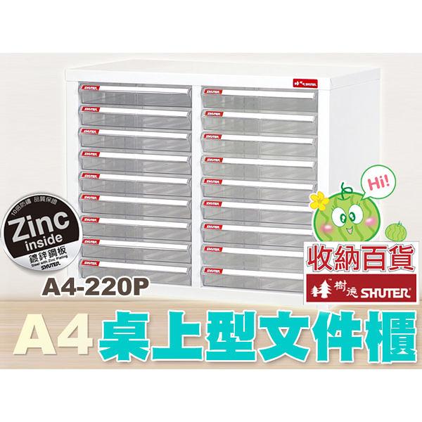樹德 桌上型資籵櫃 A4-220P  (檔案櫃/文件櫃/收納櫃/效率櫃)