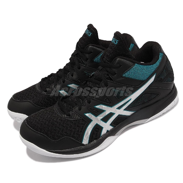 Asics 排羽球鞋 GEL-Task MT 2 男鞋 高筒 黑 綠 室內運動鞋 【ACS】 1071A036003