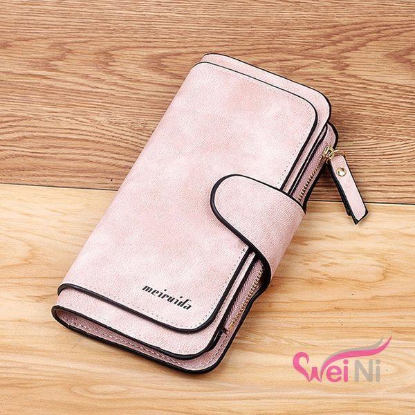 wei-ni 多卡位手機零錢包(meiruida品牌) 多卡層 長夾 拉鍊 零錢包 手拿包 手機包 皮夾