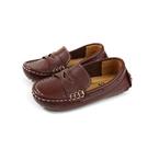 懶人鞋 豆豆鞋 休閒鞋 童鞋 棕色 中童 P-983-21 no240