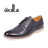 golden Waltz-時尚紳士休閒皮鞋 612008-37(深藍)
