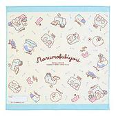 Sanrio 毛毯熊莫普悠閒生活系列日本製布面餐巾★funbox★_397491N