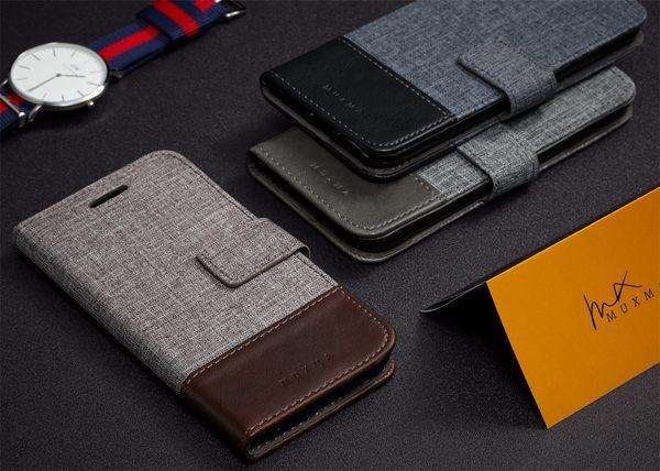 三星 J5 J7 2016 十字紋拼色 牛皮布 掀蓋磁扣手機套 手機殼 皮夾手機套 側翻可立式 外磁扣皮套