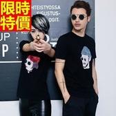T恤-情侶裝-日韓時尚潮流頭像男女純棉短袖上衣(兩件)68r86【巴黎精品】