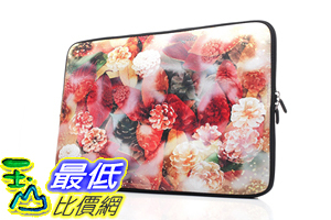 [106美國直購] 防護袋 15-15.6吋 B01LQ3TY8I Laptop Sleeve Case Handle Bag Neoprene Macbook Pro Rose (Red)
