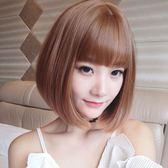 短假髮 假髮女短髮造型空氣劉海bobo頭內扣直髮網紅圓臉髮型鎖骨髮奶奶灰