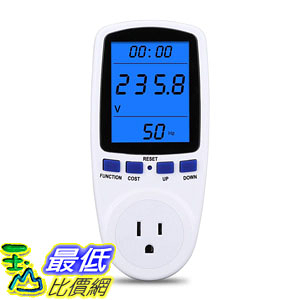[8美國直購] Upgraded Night Vision Power Meter Plug, Power Consumption Monitor B07P8M7N9F