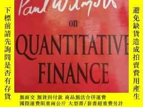 二手書博民逛書店Paul罕見Wilmott On Quantitative Finance, 2 Volume Set 精裝Y