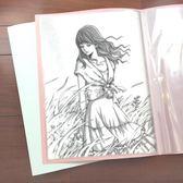 文件袋 A2資料冊30頁工程圖紙冊4開文件夾4K素描畫冊繪畫海報收藏夾 珍妮寶貝