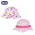 chicco-TO BE-繽紛彩點雙面荷葉帽