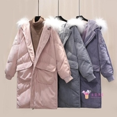 燈芯絨外套 爆款韓版寬鬆棉襖學生面包服燈芯絨羽絨棉服中長款冬季外套女棉衣S-L碼 4色
