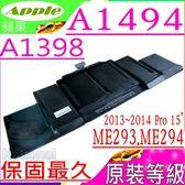 APPLE 電池(原裝等級)-蘋果 A1494,A1398,MGXC2xx/A,MGXA2xx/A,ME294LL,ME293LL,MacBook Pro 11.2,MacBook Pro 11.3