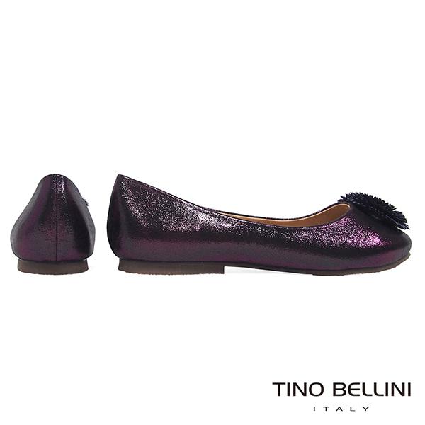 Tino Bellini 立體繁花舒足平底娃娃鞋_ 紫  F79003 網路限定款